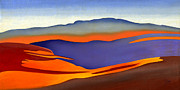 Catherine White Painting Metal Prints - Blue Ridge Mountains East Fall Art Abstract Metal Print by Catherine Twomey