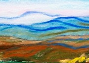 North Pastels Prints - Blue Ridge Mountains Print by Linda Eversole