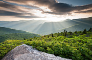 Forested Posters - Blue Ridge Mountains Sunset Spectacular Poster by Mark VanDyke