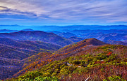Cowee Mountain Overlook Prints - Blue Ridge Parkway Print by Alexandr Grichenko