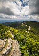 Pinnacle Framed Prints - Blue Ridge Parkway Craggy Gardens Asheville NC - Craggy Pinnacle Framed Print by Dave Allen