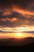 Cowee Prints - Blue Ridge parkway Sunset-Cowee Mountians Print by Michael Weeks