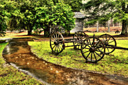 Storm Prints Prints - Blue Ridge Parkway Vintage Wagon in the Rain II Print by Dan Carmichael