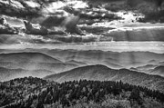 Smokey Mountains Posters - Blue Ridge Sunbeams Poster by Brian Young