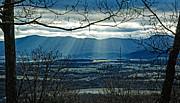 Blue Ridge Winter Solstice 2012 Print by Lara Ellis