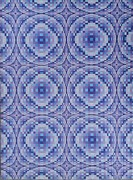 Op Art Painting Posters - Blue Ripples Poster by Chris Long