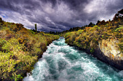 Turbulent Skies Art - Blue River by Colin Woods