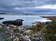 Blue Rocks Late October Day Print by Janet Ashworth