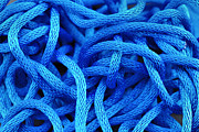 Rope Art - Blue Rope by Chevy Fleet