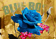 Horticulture Mixed Media Posters - Blue Rose Cantina Poster by Neil Finnemore
