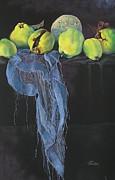 Julia Blackler - Blue Scarf And Quinces