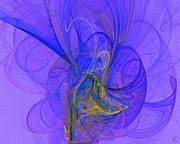 Vivacious Digital Art - Blue Shell 2 by Jeanne Liander