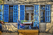 Jaffa Photos - Blue Shutters by Ken Smith