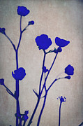 Royal Blue Framed Prints - Blue Silhouettes Framed Print by Iris Lehnhardt