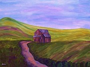 Wooden Cabin Paintings - Blue Skies in the Hill Country by Eloise Schneider