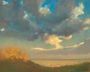 Big Skies Paintings - Blue Skies of Texas by Christine Campbell