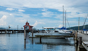 Cloud Art - Blue Skies Over Seneca Lake Marina by Photographic Arts And Design Studio