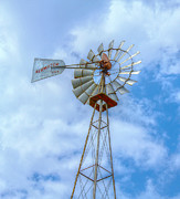 Aermotor Framed Prints - Blue Sky Aermotor Windmill Framed Print by Randy Steele