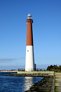 Christiane Schulze Prints - Blue Sky Blue Sea  And Barnegat Light Print by Christiane Schulze