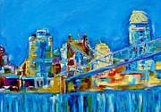 Blue Sky Cincinnati Print by Kat Griffin