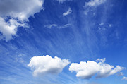 William Voon Prints - Blue Sky With Cumulus Clouds Print by William Voon