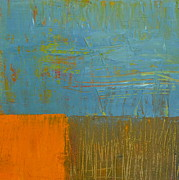 Michelle Calkins - Blue Sky with Orange and Brown