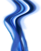 Abstract Art For Sale Digital Art Prints - Blue Smoke - abstract - art Print by Ann Powell
