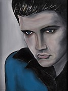 Elvis Presley Painting Originals - Blue Soul by Janice Aponte