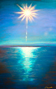 Print On Canvas Pastels Prints - Blue Spark Print by Dana Kern