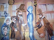 Nut Paintings - Blue spectre of Nut lane by Judith Desrosiers