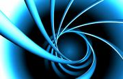Twist Posters - Blue Spiral Poster by Ryan Briscall