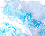 White House Mixed Media Posters - Blue Splash Poster by Ann Powell