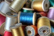 Bobbin Photos - Blue Spool  by Sarah Schroder