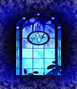 Eva Thomas - Blue Stain Glass with...