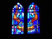 Joe Cashin - Blue stained glass window
