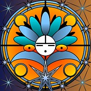 Kachina Posters - Blue Star Kachina 2012 Poster by Kathryn Strick