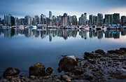 Stanley Park Framed Prints - Blue Steel Framed Print by Alexis Birkill