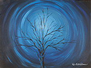 Print On Acrylic Prints - Blue storm Print by Roni Ruth Palmer