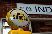 Auto Art Prints - Blue Sunoco Globe Print by Paul Ward