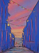Magazine Pastels - Blue Sunset by Marcia Meade