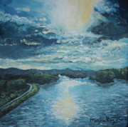 Monica Veraguth Art - Blue Sunset by Monica Veraguth