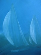 Key West Paintings - Blue by Susan Richardson