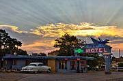 Route66 Prints - Blue Swallow Motel Print by Keith Gerstung