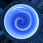 Blend Photos - Blue Swirl by Russell Shively