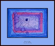 St Barbara Mixed Media Framed Prints - Blue Threads Framed Print by Barbara St Jean