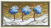 Dance Tapestries - Textiles Originals - Blue Three by Lorraine Roy