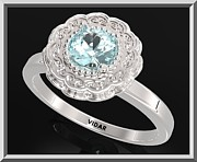 Promise Ring Jewelry - Blue Topaz Sterling Silver Engagement Ring - Statement Flower Ring by Roi Avidar