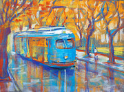 Tram Originals - Blue Tram by Yevgenia Watts