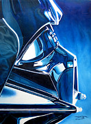 Darth Framed Prints - Blue Vadar Framed Print by Joshua Morton