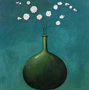 Blue Vase Metal Prints - Blue Vase 1 Metal Print by Pablo Esteban